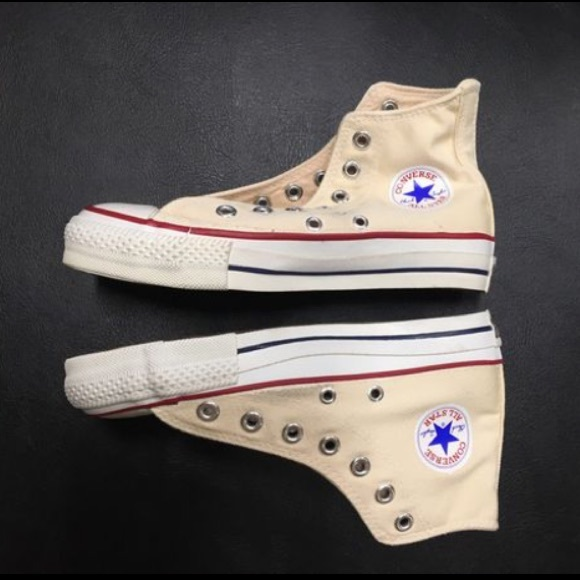 arrives new high order Made in USA Converse All Star Unbleached White